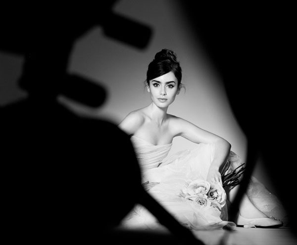 Lancome French Ballerine Spring 2014 Make Up Collection featuring Lily Collins