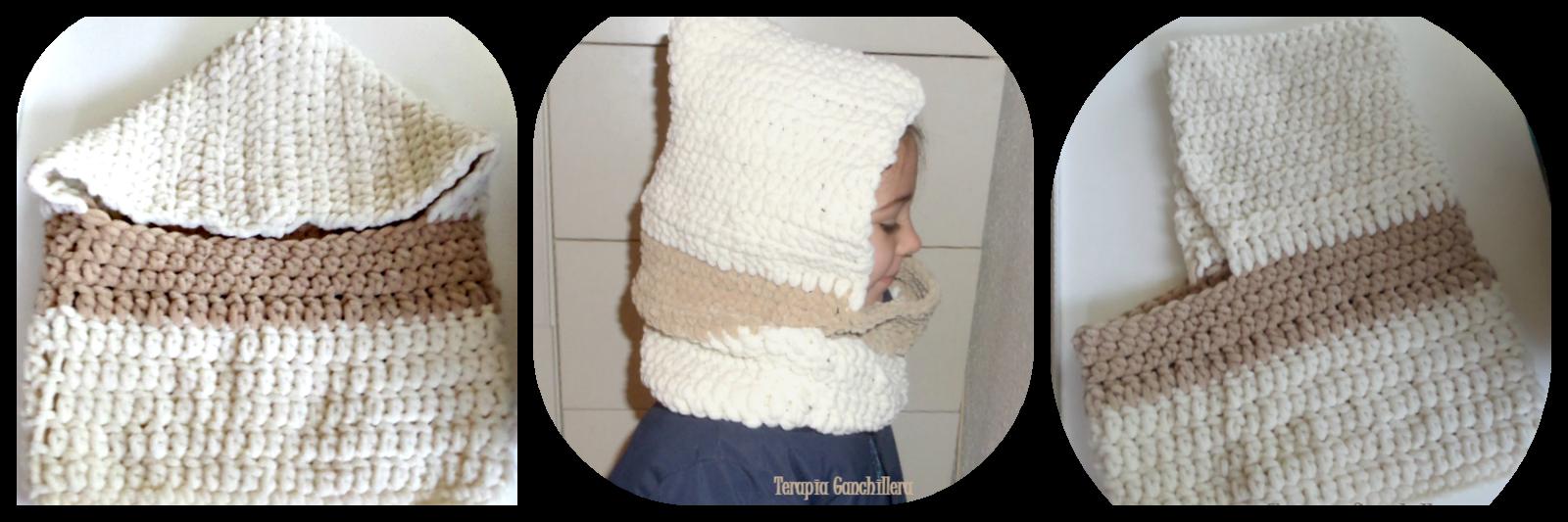 cuello-capucha-crochet-crudo-marron-lana-bambi