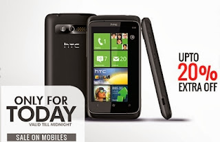 Upto 20% Extra off on Mobile Phones at HomeShop18 (For Today Only)