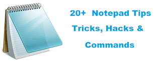 Notepad Tips & Tricks