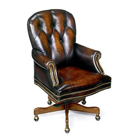 ROSE WOOD FURNITURE leather desk chair