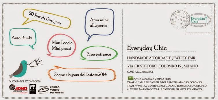 domenica 8 giugno a milano Everyday Chic, la fiera dedicata ai gioielli handmade a prezzi accessibili