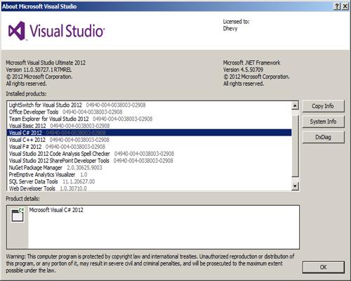 Visual Studio 2012 Ultimate Edition Full Serial 4