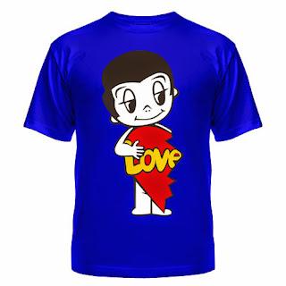 футболка love is мужская