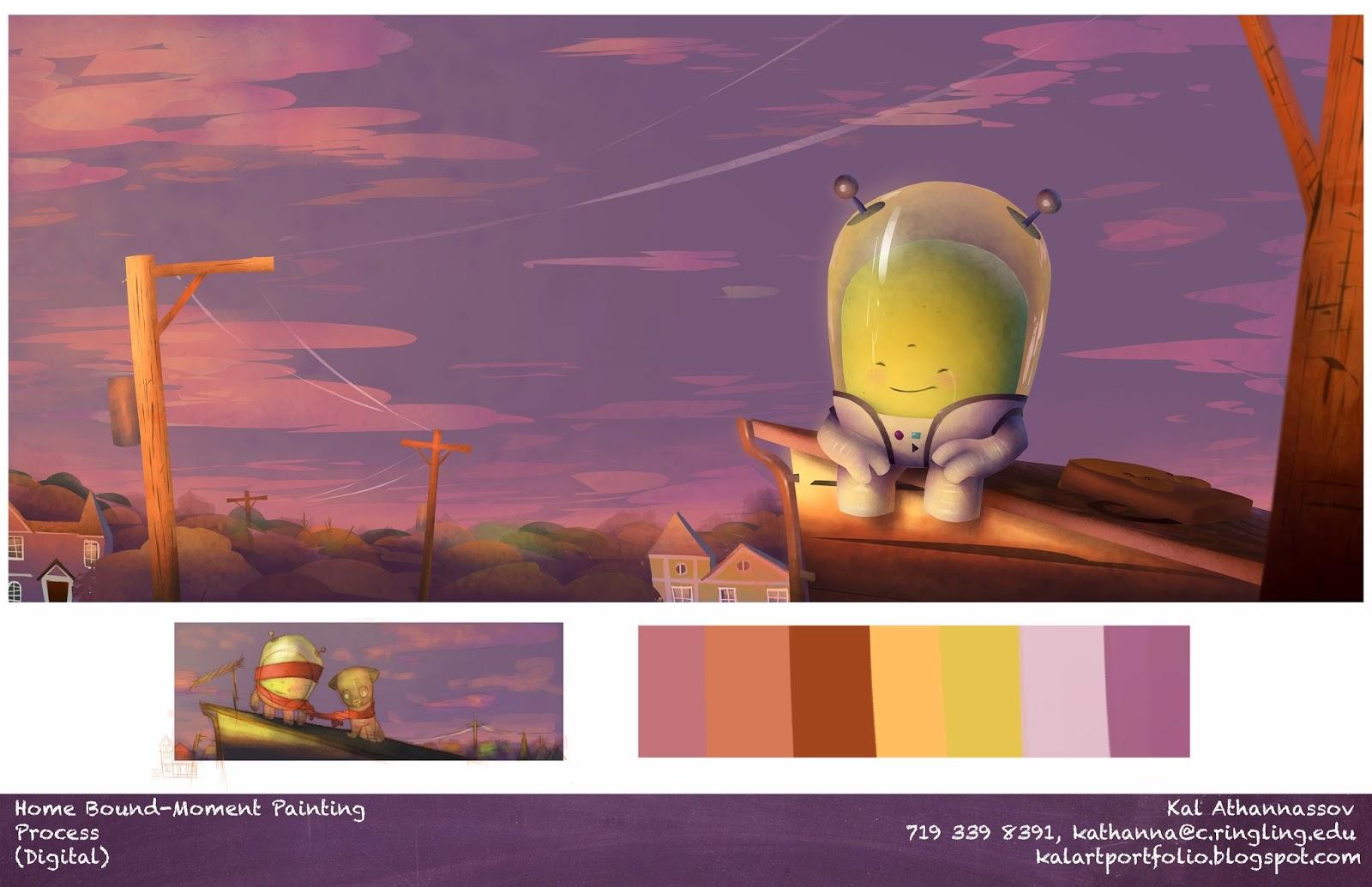 Vis dev portfolio Kal Moment painting
