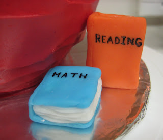 Teacher's Apple Cake - Close-up of Books