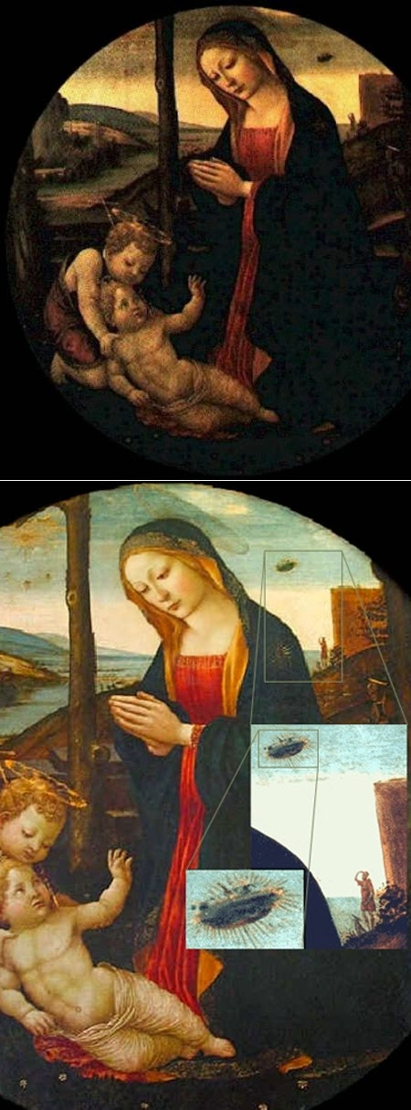 The Madonna with Saint Giovannino: Sightings Of UFOs
