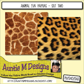 Animal Fur Papers - Set Two