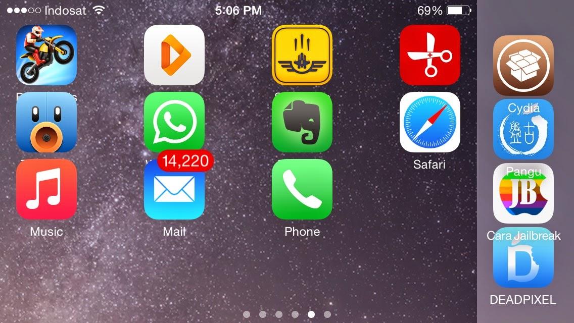 Cara Jailbreak iOS 8/8.1 di iPhone iPad iPod Touch Cara Install Cydia ...