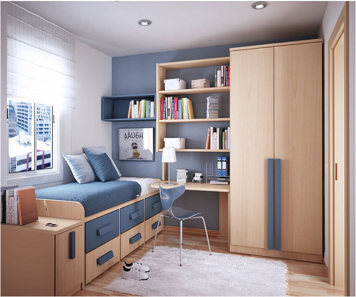 Modern design for teenage boys room design inspirations for Modern bedroom ideas for small rooms