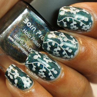NailaDay: Born Pretty Store stamping plate review Qgirl-016