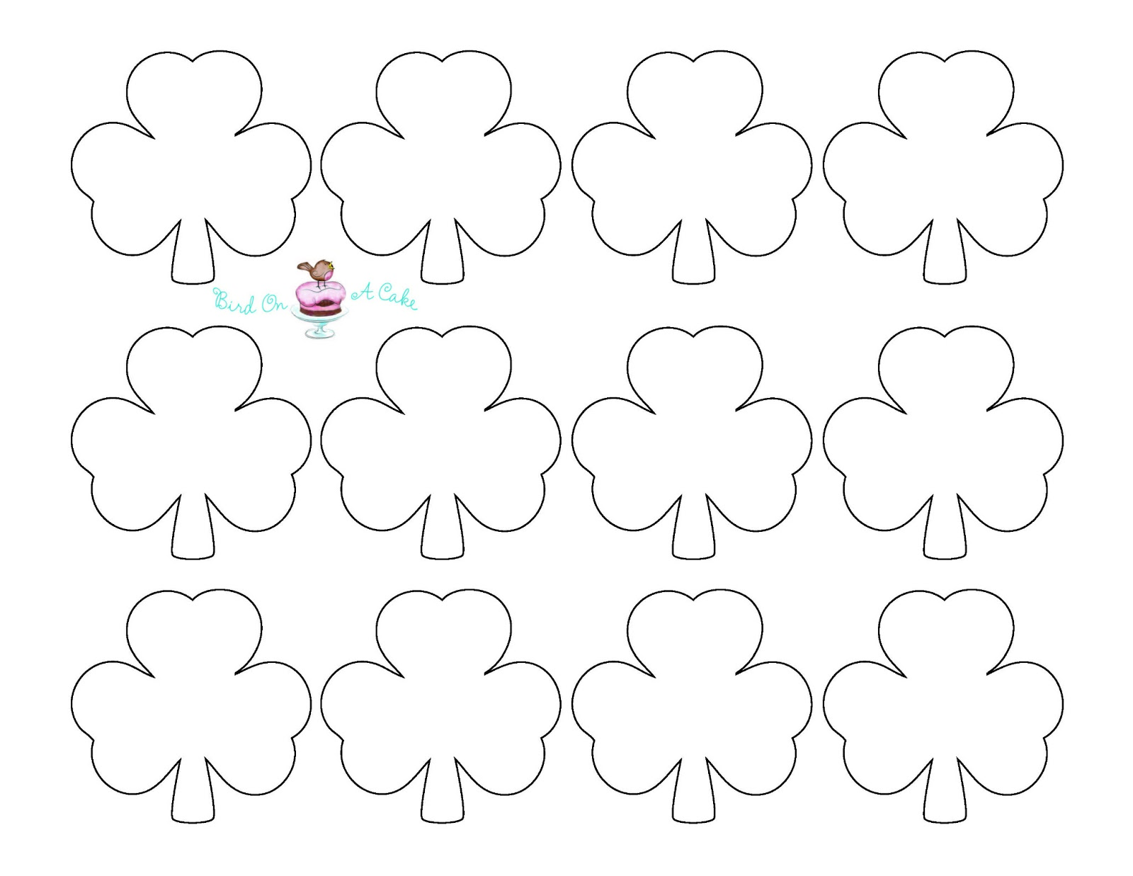Clever image with free printable shamrock template