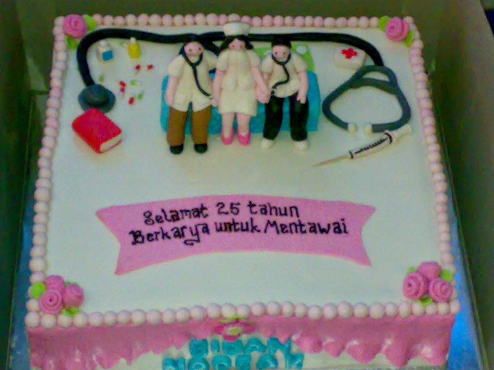 kue ulang tahun tema dokter umum dan bidan