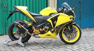 Gambar Modifikasi Motor Honda Megapro Ekstreme Kuning title=