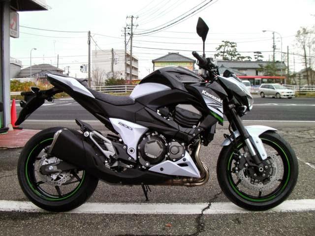 Kawasaki Z800 White Black