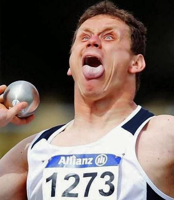 Los rostros mas graciosos de los deportes