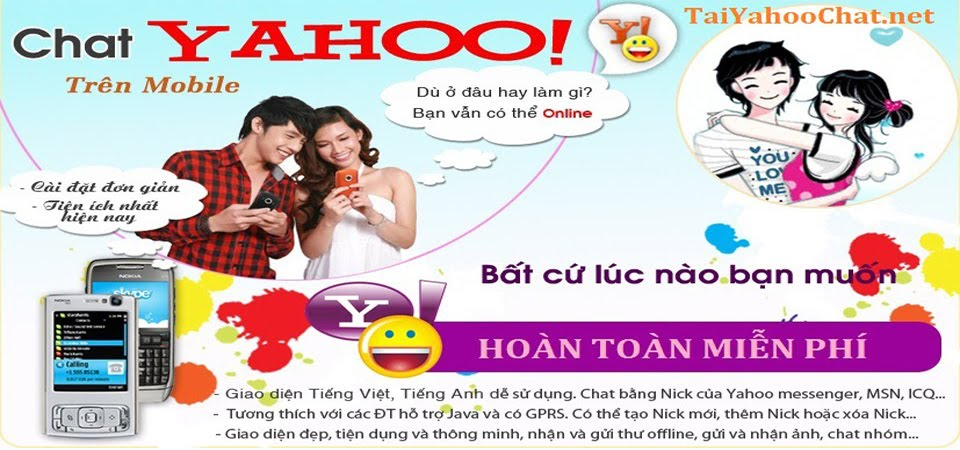 Tai Yahoo Chat yahoo messenger cho điện thoại Java - Android