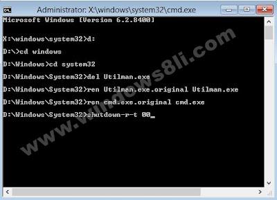 Windows 8 Kullanıcı Şifresi Sıfırlama