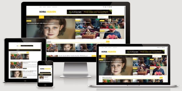 Sora Heaven Responsive Blogger Template Free Download