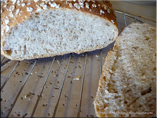 part whole wheat bread pore formation
