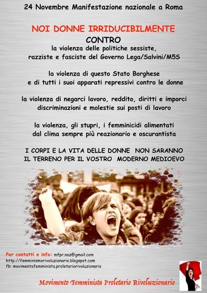 24 novembre - Manifestazione Nazionale a Roma