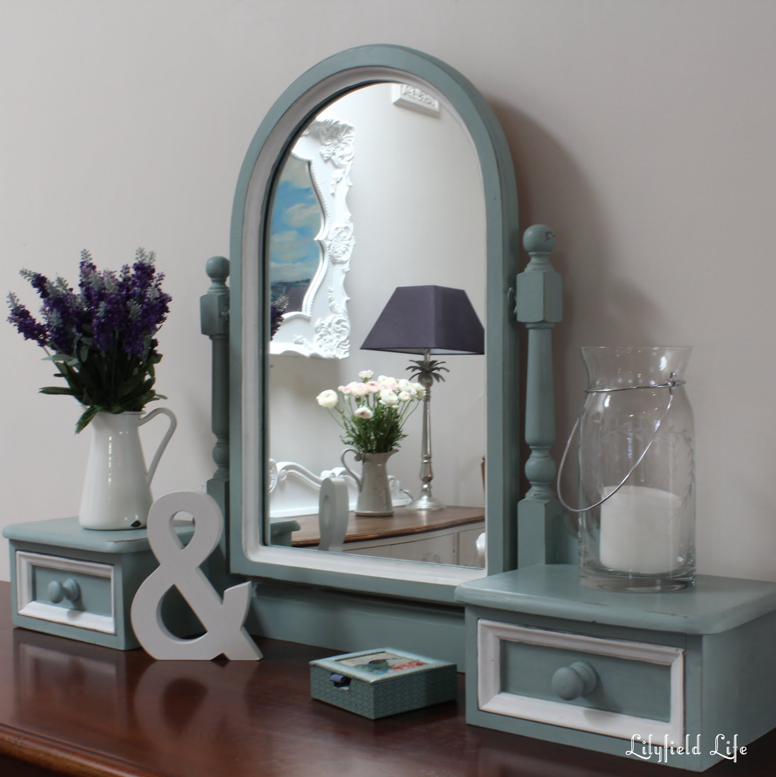 Lilyfield Life Duck Egg Blue Dressing Table Vanity Mirror Set
