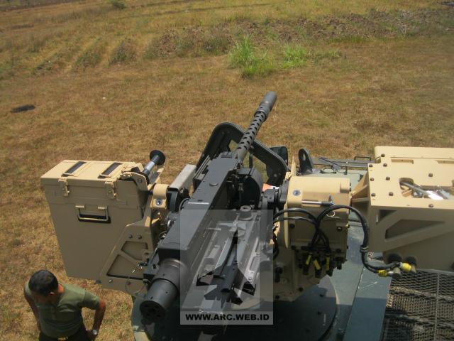 RCWS Defnder dipasang di Panser ANOA