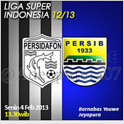 Prediksi Skor Pertandingan Persidafon vs Persib ISL (Senin, 4 Februari 2013)