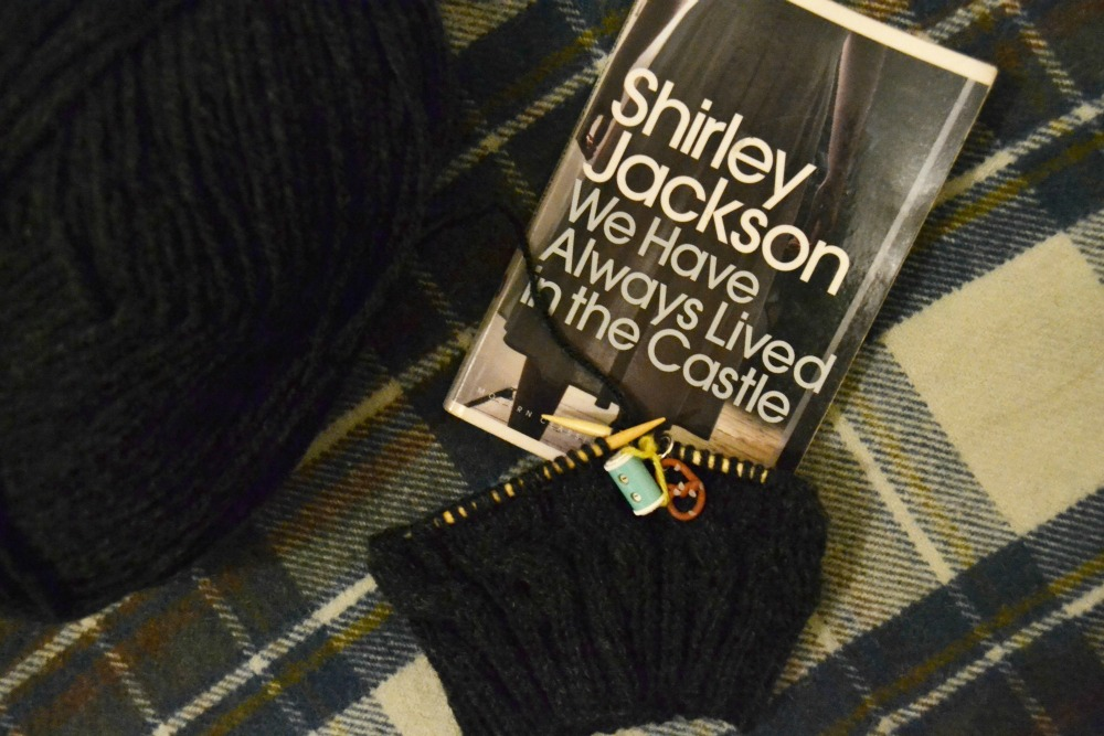 knitting cable hat aran yarn shirley jackson library book paperback