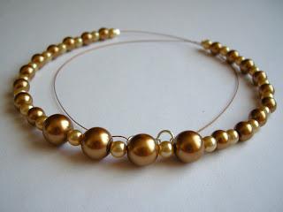 biżuteria z półfabrykatów - złote preły (perły)