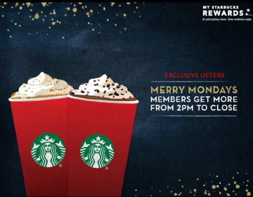 Starbucks Merry Monday Rewards Members Exclusive