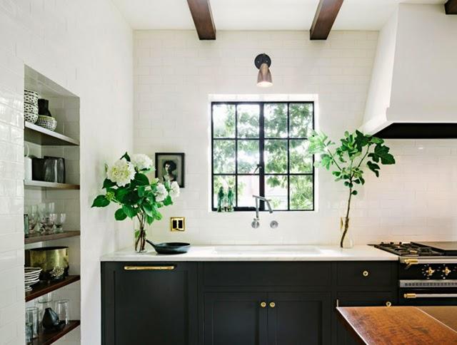Cocina en blanco y negro home interior ideas for bedrooms - Cocinas en blanco y negro ...