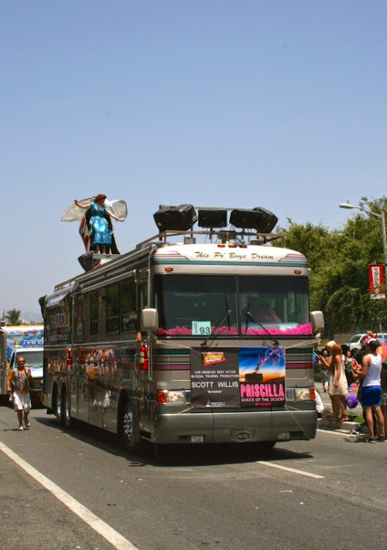 Priscilla Musical bus West Hollywood Pride Parade 2014