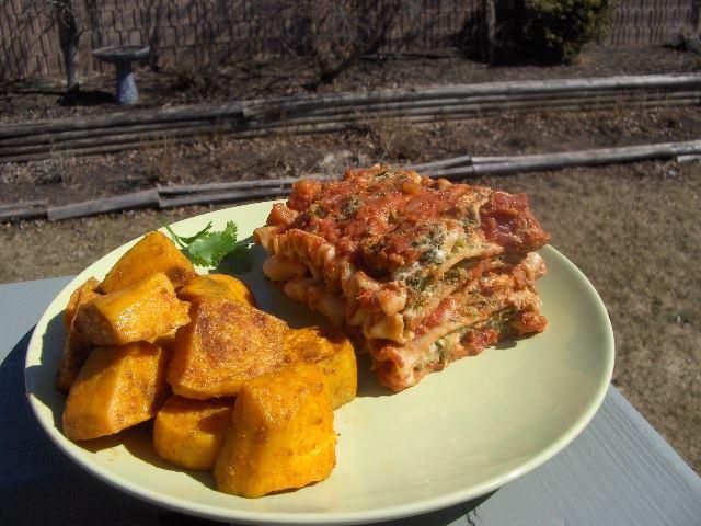 Garlic Hummus Lasagna