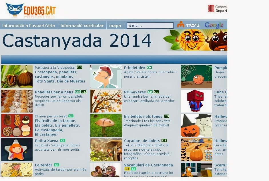 http://www.edu365.cat/castanyada/index.htm