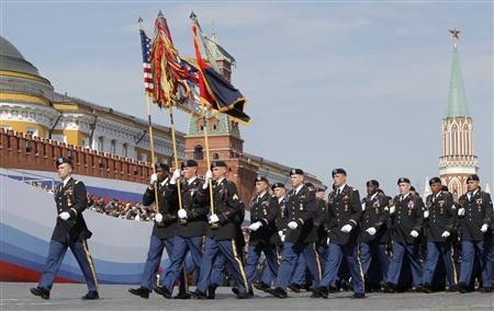 Usa military parade in red square may 9, 2010 victory day
