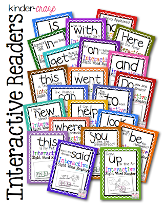 Interactive Sight Word Readers, hands-on practice for only $1 each