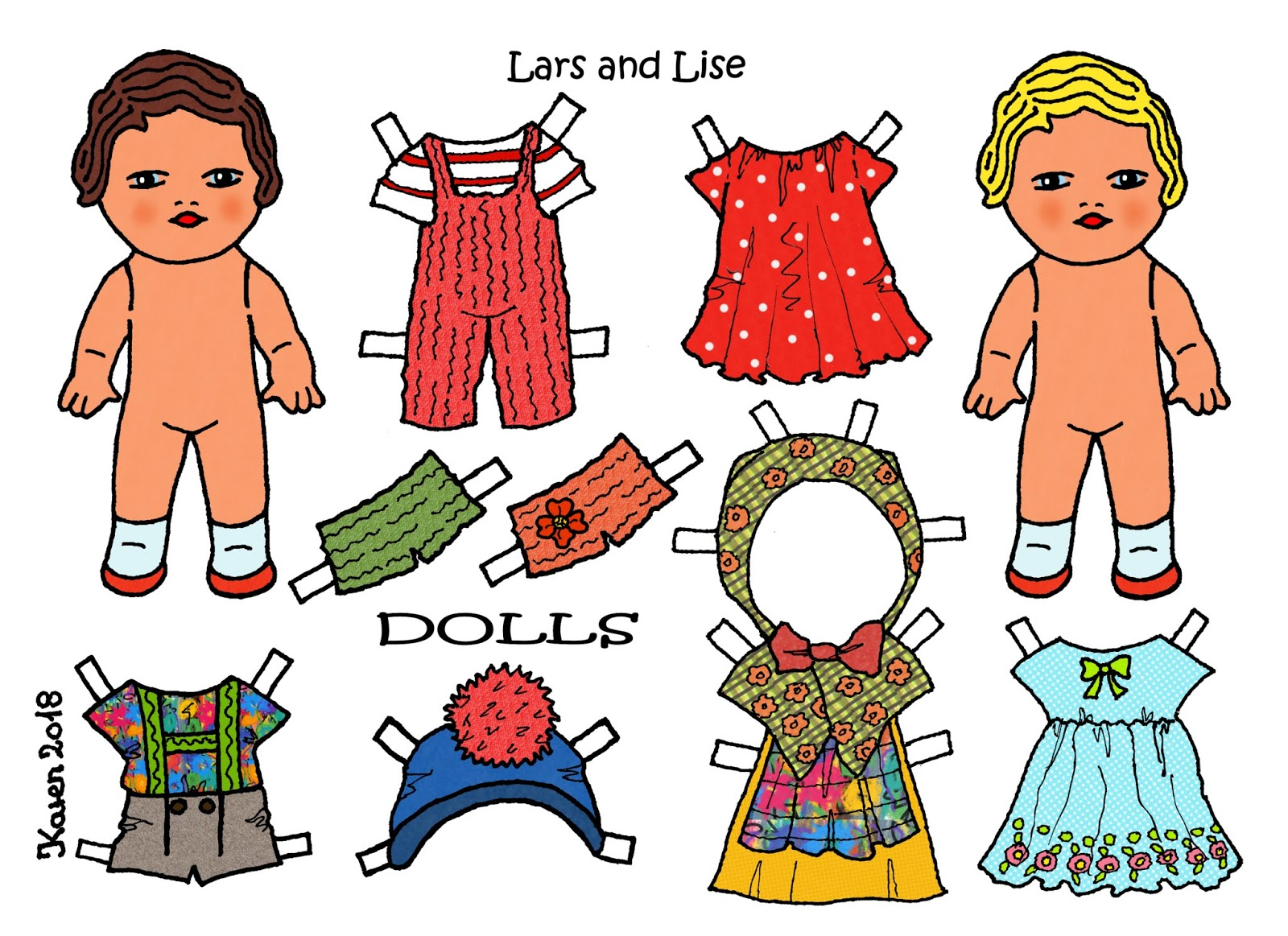 Link to Lars and Lise Paper Dolls.