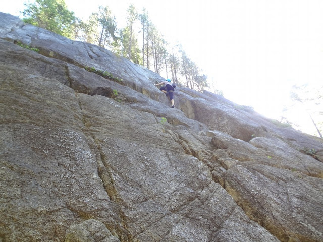 Call It A Day, Rock climbing wall, Smoke Bluffs, Squamish, BC