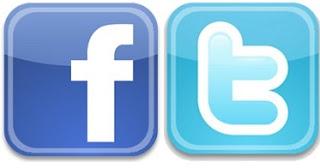 facebook y Twitter - boton de facebook - boton de twitter - logo de twitter - logo de facebook - vincular facebook con twitter - vincular twitter con facebook