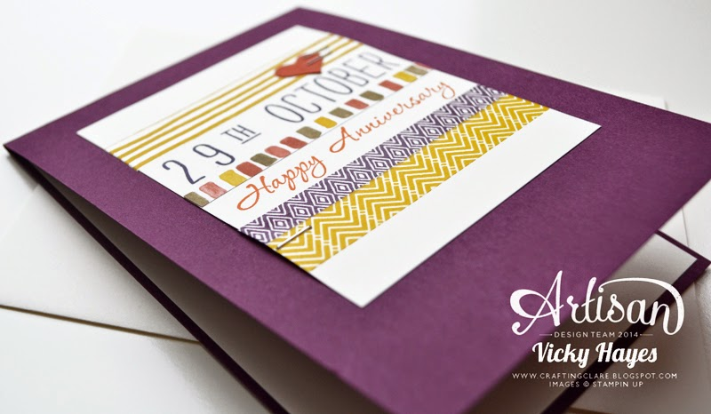 Ideas for colour schemes for handmade cards using Stampin' Up ink and card