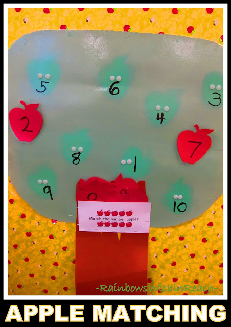 photo of: Tree for Apple Matching in Preschool (via RainbowsWIthinReach)