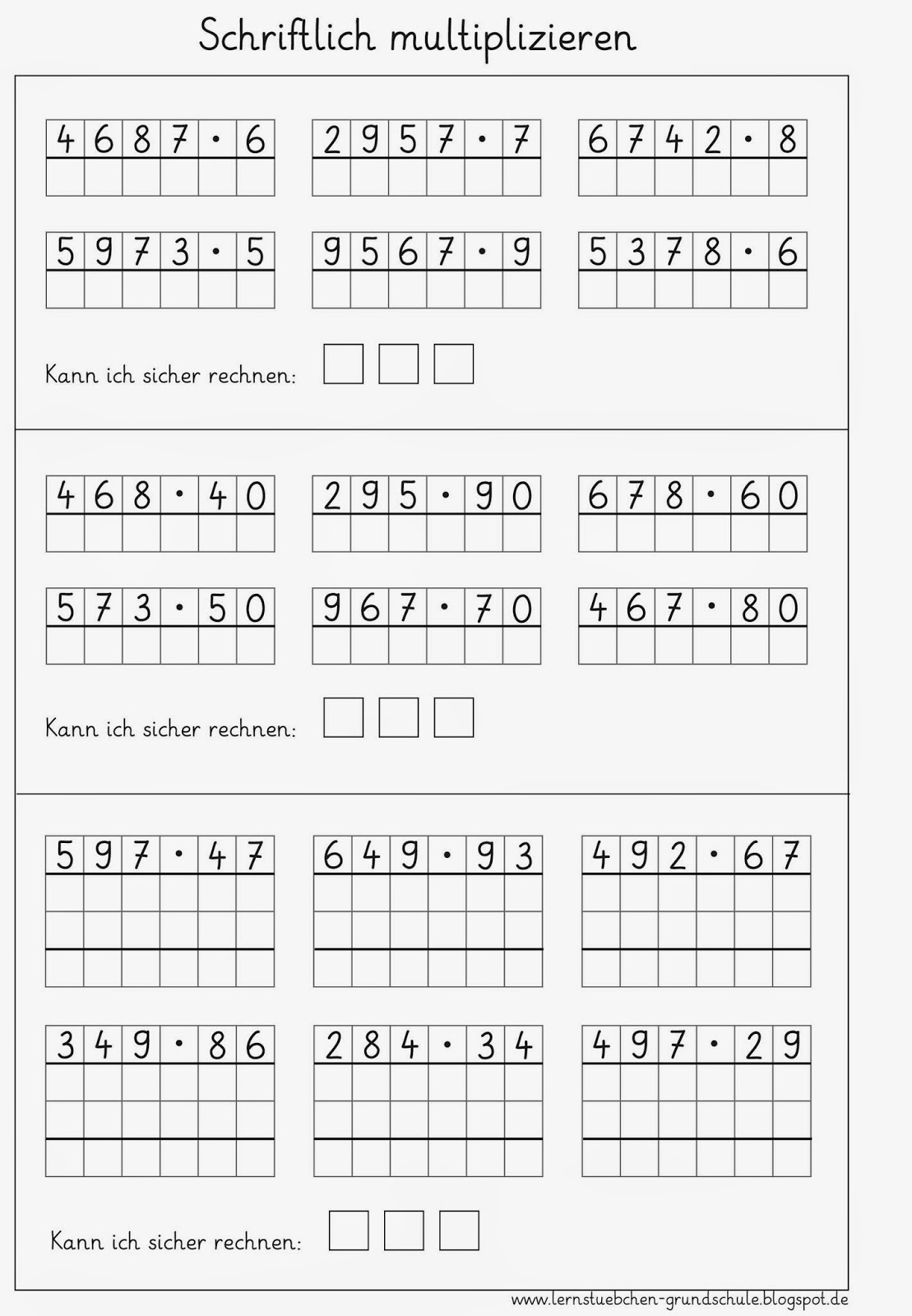 lernst252bchen schriftlich multiplizieren