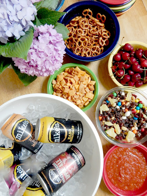 summer backyard girl's night mike's hard lemonade (sweetandsavoryfood.com)
