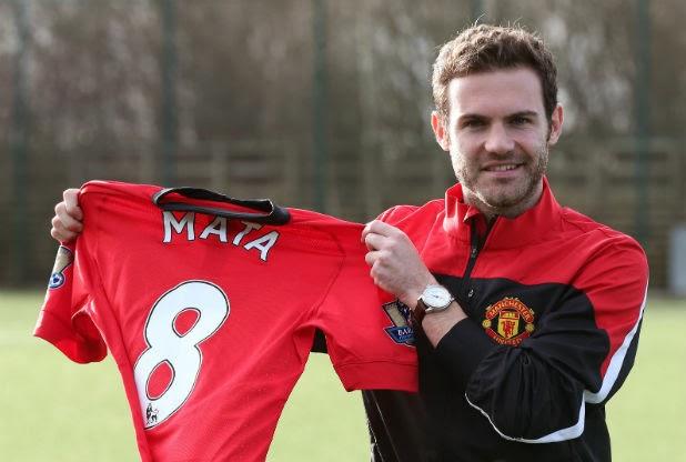 Bursa Transfer 2014 Juan Mata di transfer ke klub Manchester United senilai 39,3 juta pounds