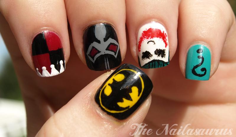 Just Like The Movies: Batman Nail Art - Just Like The Movies: Batman Nail Art - The Nailasaurus UK Nail