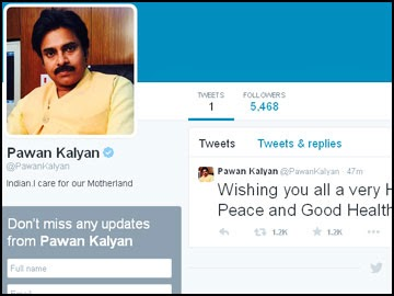 Power Star Pawan Kalyan to Twitter have twitter account