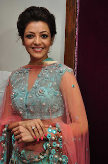 Kajal Agarwal Pictures in Lehenga Choli at Mugdha Art Studio ~ Celebs Next