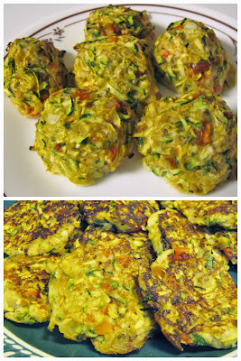 Low-carb gluten-free summer squash balls & fritters