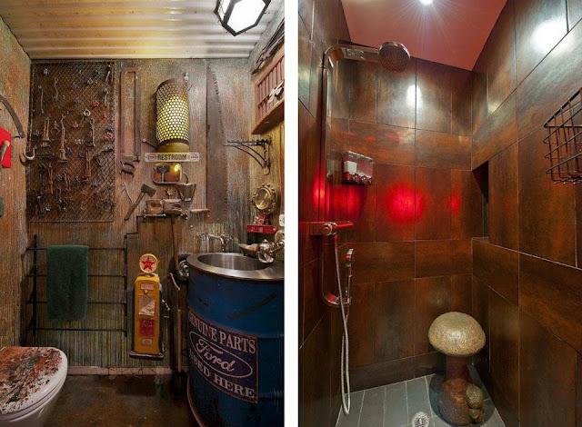 Badezimmer im Industrial Look